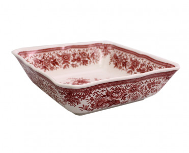 Салатник квадратный средний Villeroy&Boch Fasan красный. Германия