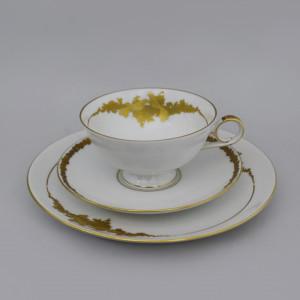 Чайная тройка Kaiser белая с золотом. Германия