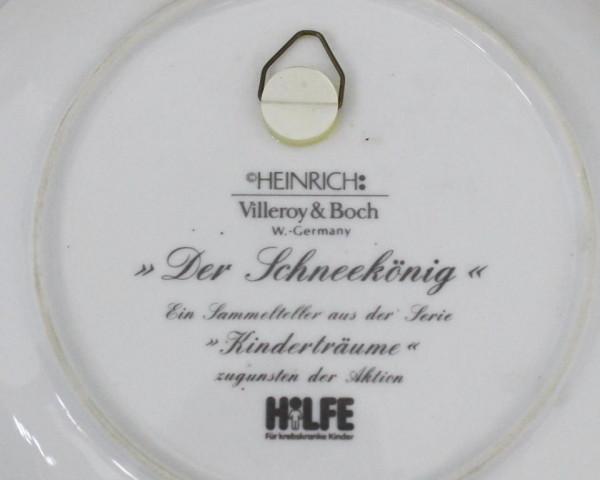 Тарелка декоративная Heinrich Villeroy&Boch Снежная королева. Германия