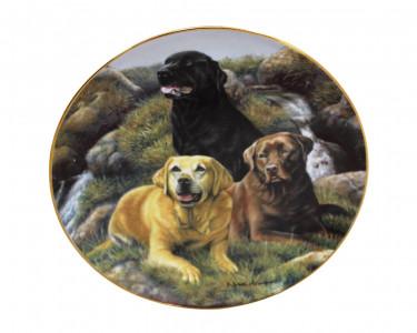 Тарелка декоративная Franklin Mint Любимые спутники. США