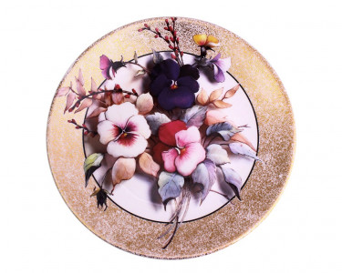 Тарелка декоративная Royal Worcester  «Анютины глазки»
