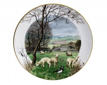 Тарелка декоративная Royal Worcester Сезон ягнения в январе. Англия