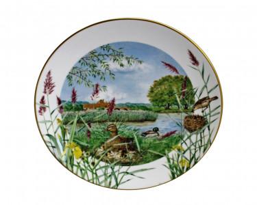 Тарелка декоративная Royal Worcester В июле на берегу реки. Англия