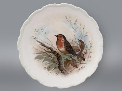 Тарелка декоративная Робин - обыкновенная зарянка Royal Albert
