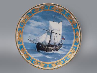 Тарелка декоративная Русский корабль ИФЗ