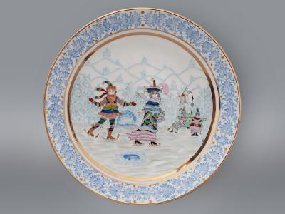 Тарелка декоративная Зимняя забава ИФЗ