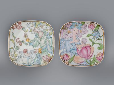 Тарелки парные декоративные Мать и дитя Hutschenreuther