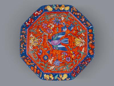 Блюдо круглое Hermes Marqueterie de Pierres d'Orient et d'Occident