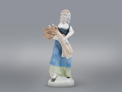 Статуэтка Женщина со снопом пшеницы H.Reinl