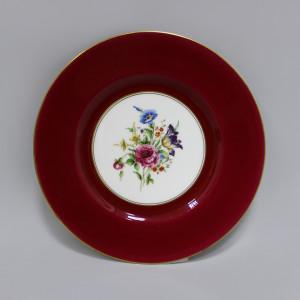 Тарелка Royal Worcester красная. Англия