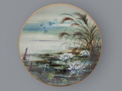 Тарелка декоративная Утреннее настроение у пруда Lilien