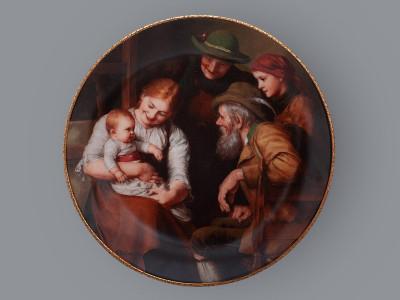 Тарелка декоративная Визит бабушки с дедушкой Bareuther