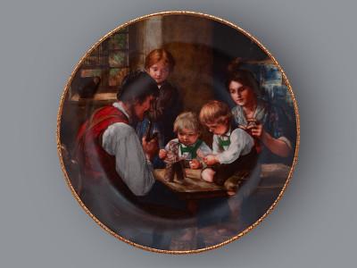 Тарелка декоративная Карточный домик Bareuther