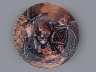 Тарелка декоративная Профессиональные велосипедисты Seltmann Weiden