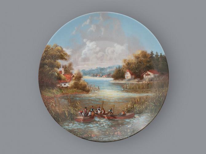 Тарелка декоративная Выход рыбаков Seltmann Weiden