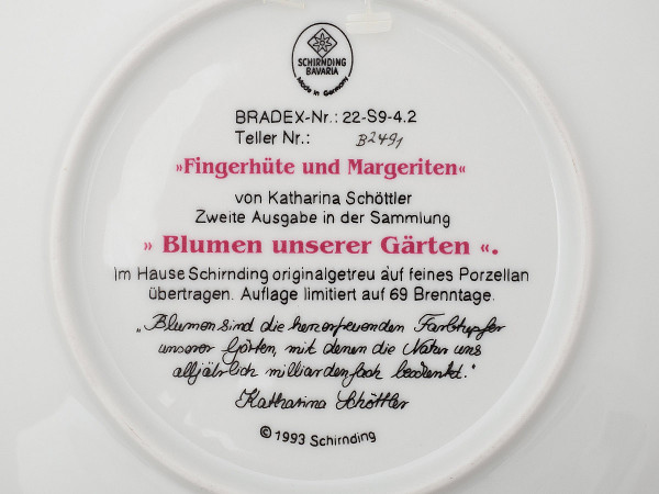 Тарелка декоративная Наперстянки и маргаритки Schirnding