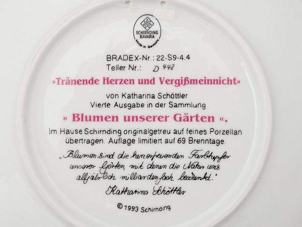 Тарелка декоративная Дицентра и незабудки Schirnding
