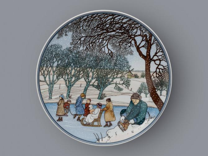 Тарелка декоративная Зима Heinrich Villeroy&Boch