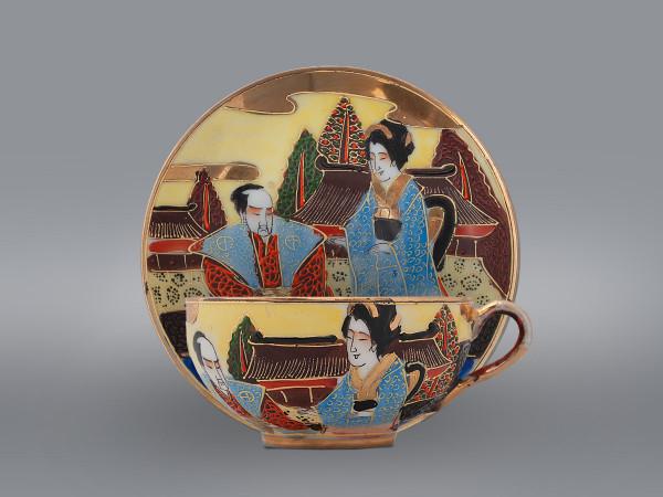 Чайная пара Гейша и самурай Satsuma