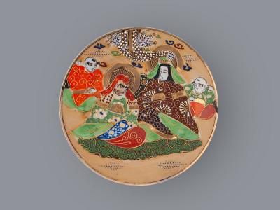 Тарелка пирожковая Каннон с бессмертными Satsuma