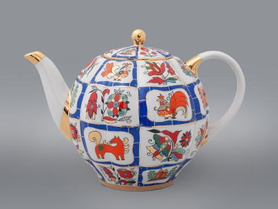 Чайник доливной Русский лубок ИФЗ