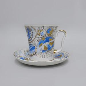 Чайная пара Голубые Цветы. ЛФЗ